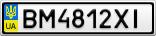Номерной знак - BM4812XI