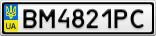 Номерной знак - BM4821PC