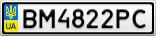 Номерной знак - BM4822PC