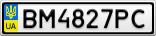 Номерной знак - BM4827PC