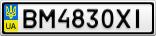 Номерной знак - BM4830XI