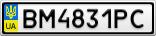 Номерной знак - BM4831PC