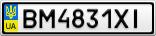 Номерной знак - BM4831XI