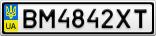 Номерной знак - BM4842XT