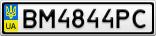 Номерной знак - BM4844PC