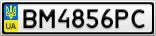 Номерной знак - BM4856PC