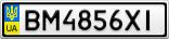 Номерной знак - BM4856XI