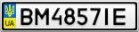 Номерной знак - BM4857IE