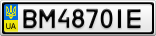 Номерной знак - BM4870IE