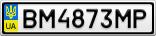 Номерной знак - BM4873MP