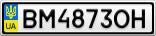 Номерной знак - BM4873OH