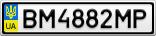 Номерной знак - BM4882MP