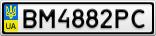 Номерной знак - BM4882PC