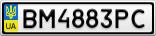 Номерной знак - BM4883PC