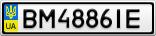 Номерной знак - BM4886IE
