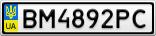 Номерной знак - BM4892PC