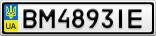 Номерной знак - BM4893IE