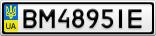 Номерной знак - BM4895IE