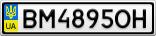 Номерной знак - BM4895OH