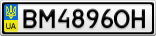 Номерной знак - BM4896OH