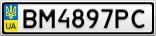Номерной знак - BM4897PC