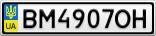 Номерной знак - BM4907OH