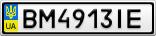 Номерной знак - BM4913IE