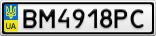 Номерной знак - BM4918PC