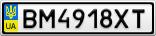 Номерной знак - BM4918XT