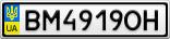 Номерной знак - BM4919OH