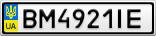 Номерной знак - BM4921IE