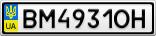 Номерной знак - BM4931OH