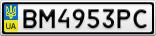 Номерной знак - BM4953PC