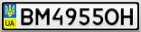 Номерной знак - BM4955OH