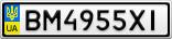 Номерной знак - BM4955XI