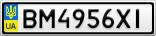 Номерной знак - BM4956XI