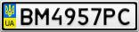 Номерной знак - BM4957PC