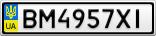 Номерной знак - BM4957XI