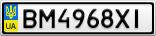 Номерной знак - BM4968XI