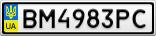 Номерной знак - BM4983PC