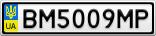Номерной знак - BM5009MP