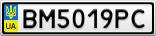 Номерной знак - BM5019PC