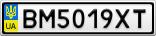 Номерной знак - BM5019XT