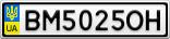 Номерной знак - BM5025OH