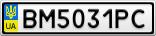 Номерной знак - BM5031PC