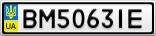 Номерной знак - BM5063IE