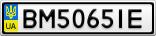 Номерной знак - BM5065IE