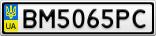 Номерной знак - BM5065PC