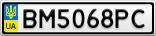 Номерной знак - BM5068PC