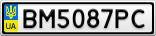 Номерной знак - BM5087PC